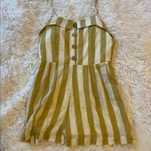 Altar'd State Yellow Striped Romper
